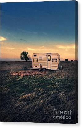 Trailer At Dusk Canvas Print by Jill Battaglia