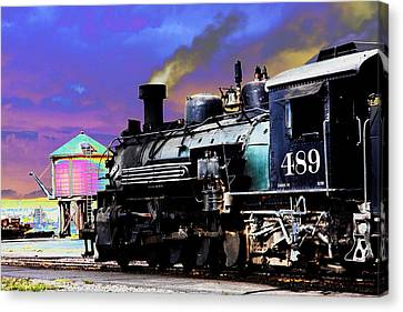 Train 489 Canvas Print by Steven Bateson