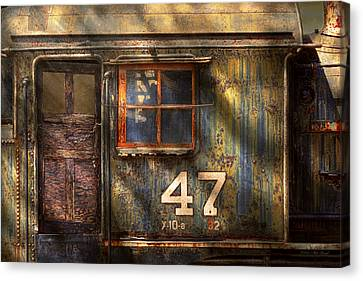 Train - A Door With Character Canvas Print by Mike Savad