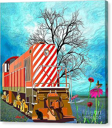 Train - All Aboard - Transportation Canvas Print by Liane Wright