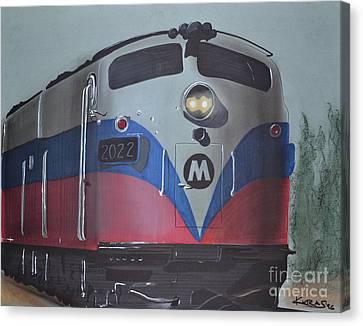 Train Approaching Canvas Print