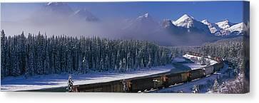 Train Banff National Park Alberta Canada Canvas Print
