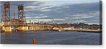 Train Bridge Panorama Canvas Print
