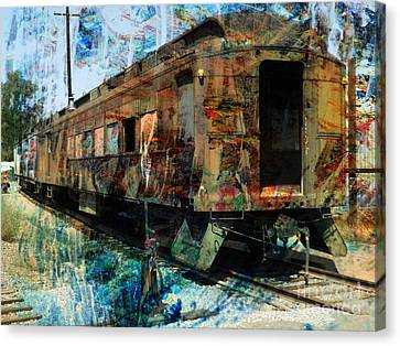 Train Cars Canvas Print by Robert Ball