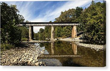 Train Crossing Canvas Print by David Lester