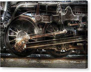 Train - Engine - 1218 - Nw Type-a 1218 Steam 2-6-6-4 Canvas Print by Mike Savad