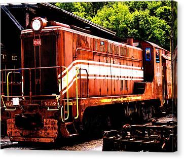 Train Engine Nc Sl  Canvas Print by Mark Moore