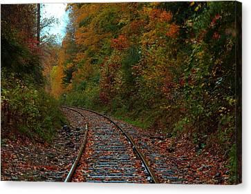 Train Fall Canvas Print