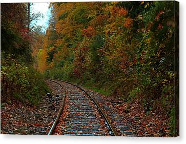 Train Fall Canvas Print by Andrea Galiffi
