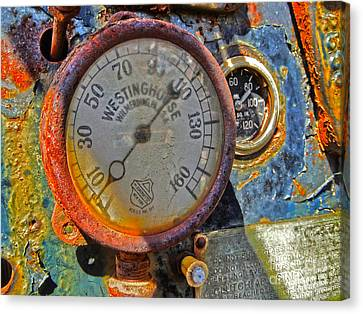 Train Gauge Canvas Print by Gregory Dyer