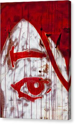 Train Graffiti Michael Jackson Canvas Print by Carol Leigh