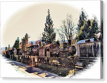 Train Graveyard Canvas Print by Kelly Reber