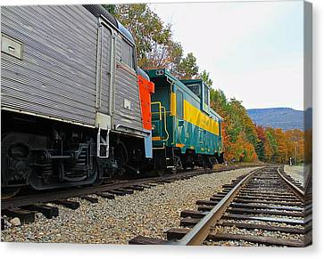 Canvas Print featuring the photograph Train In New Hampshire by Amazing Jules