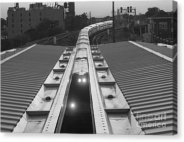 Canvas Print featuring the photograph Train Keeps On Rollin by John Telfer