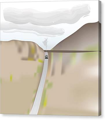 Train Landscape Canvas Print by Kevin McLaughlin