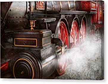 Personalized Canvas Print - Train - Let Off Some Steam  by Mike Savad