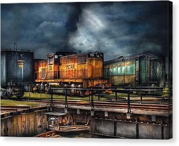 Train - Let's Go For A Spin Canvas Print by Mike Savad