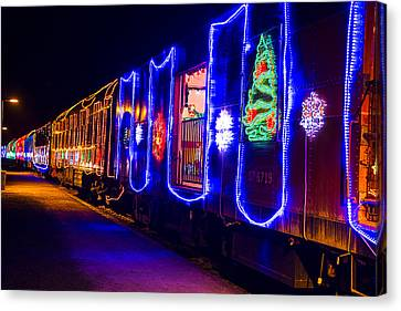 Train Of Lights Canvas Print by Garry Gay