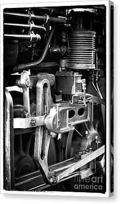 Train Pistons Canvas Print by John Rizzuto