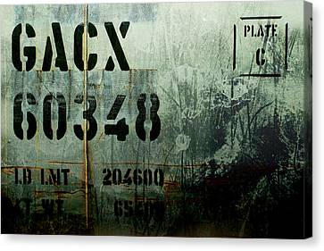 Train Plate Two Canvas Print by April Lee