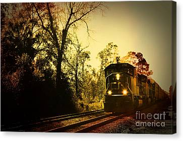 Train Ride Canvas Print by Janice Spivey