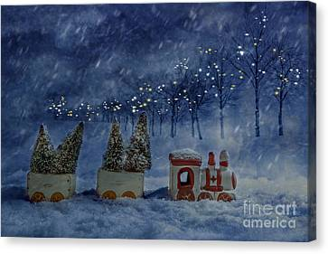 Ceramic Canvas Print - Train Set by Amanda Elwell