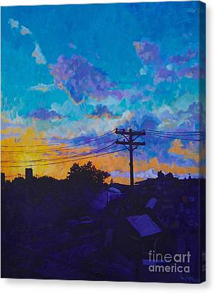 Train Side Sunrise Canvas Print