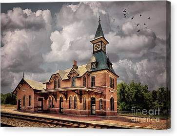 Train Station At Point Of Rocks Canvas Print by Lois Bryan