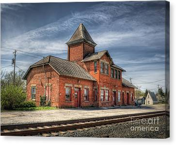 Train Station Of Delaware Ohio Canvas Print by Pamela Baker