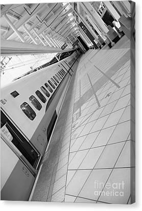 Train Station Platform Canvas Print by Yali Shi
