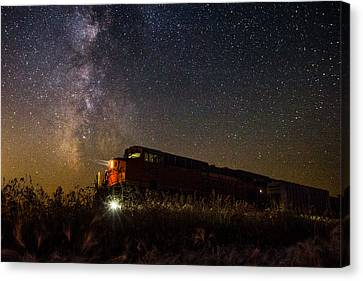 Train To The Cosmos Canvas Print by Aaron J Groen