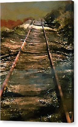 Train Track To Hell Canvas Print by RC deWinter