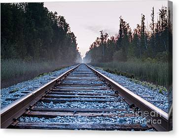 Canvas Print featuring the photograph Train Tracks To Nowhere by Patrick Shupert