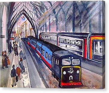 Train Train Train Canvas Print by Esther Woods
