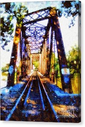 Train Trestle Bridge 2 Canvas Print