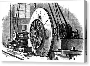 Train Wheel Production Canvas Print by Science Photo Library