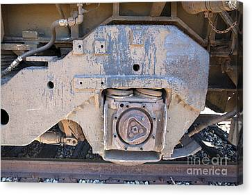 Train Wheel Canvas Print by Russell Christie