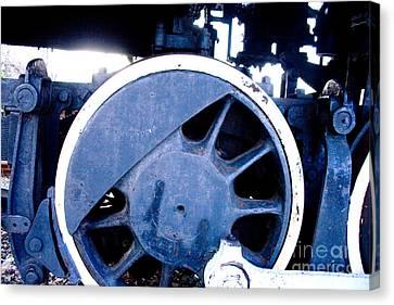 Train Wheel Canvas Print by Thomas Marchessault