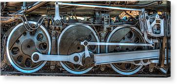 Train Wheels Canvas Print by Paul Freidlund