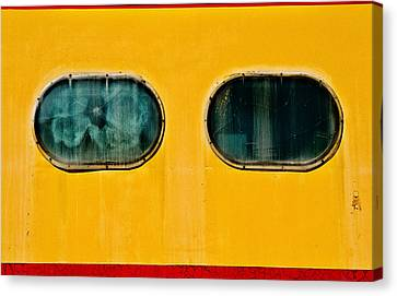Train Window Canvas Print by Bud Simpson