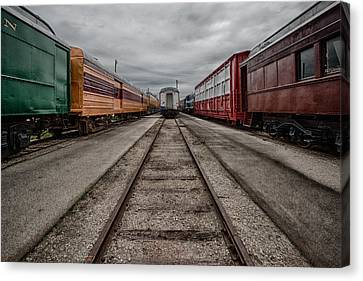 Train Depot Canvas Print - Train Yard by Mike Burgquist