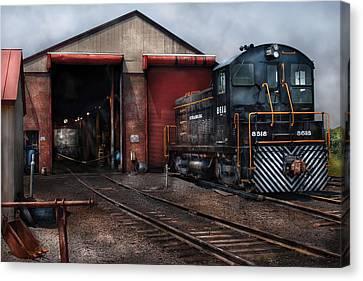 Train - Yard - Strasburg Repair Center Canvas Print by Mike Savad