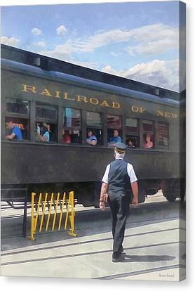 Trains - All Aboard Canvas Print by Susan Savad