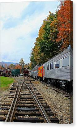 Canvas Print featuring the photograph Trains Of Nh by Amazing Jules