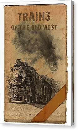 Trains Of The Old West Canvas Print by John Haldane