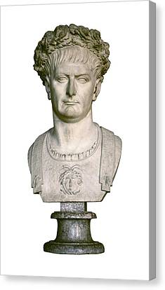 Trajan. 98 - 117. Bust With A Laurel Canvas Print
