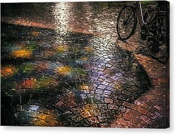 Trajectum Lumen Project. Buurkerkhof 5. Netherlands Canvas Print by Jenny Rainbow