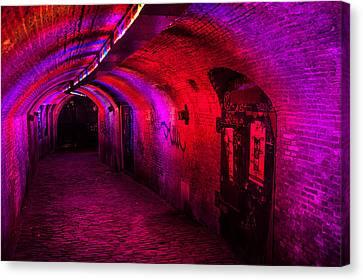 Trajectum Lumen Project. Ganzenmarkt Tunnel 2. Netherlands Canvas Print