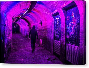 Trajectum Lumen Project. Ganzenmarkt Tunnel 6. Netherlands Canvas Print by Jenny Rainbow