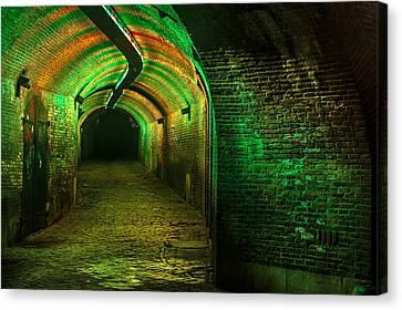Trajectum Lumen Project. Ganzenmarkt Tunnel 7. Netherlands Canvas Print by Jenny Rainbow